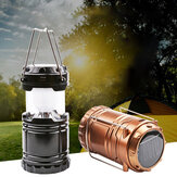 IPRee® G85 Outdoor Solar Lantern 6 LED USB Rechargeable Telescopic Camping Light Super Bright Emergency Power Bank Flashlight Hiking Travel