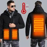 男電子USBヒートジャケットインテリジェント暖房フード付き作業オートバイスキーライディングコート