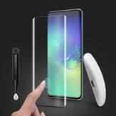 BakeeyProtectordepantalladecristal templado ultrasónico para huellas dactilares de apoyo completo para Samsung Galaxy S10 3D Curved Edge Film