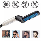 Multifunktionale elektrische Haarkammbürste Bart Haarglätter Heat Styler für Männer Bartglättung Kammhaar