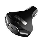 Bakeey Type-C QC3.0 5V 9A 45W Chargeur Rapide 3 Ports Chargeur de Voiture pour Téléphone Mobile