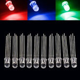50pcs 5mm Full-color LED RGB Common Anode Four Feet Transparent Highlight Color Light 5mm Diode Colorful