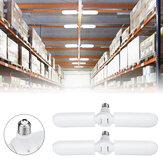 2PCS E27 56*2 LED Garage Light Bulb 2 Blades Foldable Mining Warehouse Ceiling Fan Lamp AC165-265V