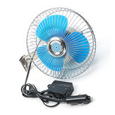 15cm Portable Deluxe Oscillating 6 Inch Fan Auto Caravan Boat Truck Car Vehicle