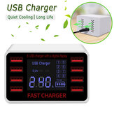 8 USB Charger 40W Multifunction Multi-USB Charging Station Hub Base Wall-mounted Smart Digital Dis