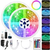 10M RGB LED Light Strip Non-waterproof 5050SMD 24 Key Remote Control Tape Lamp Works with Alexa Google Home DC12V Christmas Decorations Clearance Christmas Lights