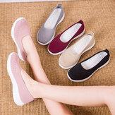 Женская сетчатая дышащая легкая обувь для повседневной ходьбы на плоской подошве