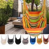 Deluxe Camping Portable Hammock Hanging Rope Chair Porch Swing Patio Yard Seat Camping Indoor Outdoor Hammocks