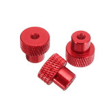 Suleve™ M3AN2 10Pcs M3 Frame Hand-tight Flange Nut Cap Aluminum Alloy Super Light