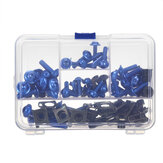 107pcs Motorcycle Aluminum Fairing Bolt Kit Fastener Clip Screw Washers 6 Colors