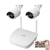 2CH WIFI Wireless CCTV Surveillance System Kit  1080P NVR IP Security Camera System Video Surveillance Kit