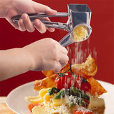 Roestvrij Staal Rotary Cheese Chocolate Grater 3 Drums Slice Shred Kitchen Tool