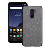 Bakeey Luxury Fabric PC Back + Soft Custodia protettiva TPU Bumper per Xiaomi Pocophone F1