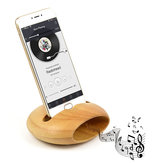 Bakeey Wooden Sound Amplifier Pen Stand Cable Organized Charging Desktop Phone Holder for Xiaomi