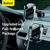 Chargeur sans fil de voiture Baseus 10W avec capteur infrarouge intelligent Charge rapide Support de téléphone de voiture Verrouillage de l'aération de la voiture + réservoir Sunction Base Station de charge pour téléphone portable de 4,5 à 6,5