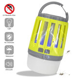 2 in 1 USB Rechargeable LED  Mosquito Dispeller Killer Lamp High/Low Light 360-400NM UV Mosquito Zapper Light For Bedroom, Garden,Camping