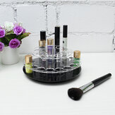 Clear Acrylic 28 Holes Makeup Brush Organizer Cosmetic Display Holder 360 Rotate