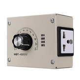 AC 0-220V 4000W Adjustable Voltage Speed Temperature Dimmer Controller For Thermostat Light Fan Motor Dimmer