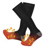 Chaussettes chauffantes électriques Rechargeable Batterie chauffe-pieds froids chroniques hiver pour cyclisme en plein air chaussettes thermiques de sport