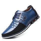 Erkekler Hakiki Deri Ekleme Metal Kaymaz Soft Tek İş Günlük Ayakkabıları