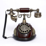 Vintage Antiken Stil Rotary Telefon Fashioned Retro Hörer Alten Telefon Home Office Decor