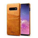 Защитныйслотдлякартизнатуральной кожи Чехол Для Samsung Galaxy S10 Plus 6.4 дюймов