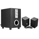 SADA D-200T Home Laptop Audio Multimedia Mini Speaker USB AUX Audio 2.1 Subwoofer bluetooth5.0 Wired 3.5mm Wood  Black