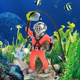 Aquarium Decor Hunter Schatz Figur Aktion Aquarium Ornament Aquarium Realistisches Design