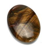 Oko Tygrysa Rzeźbiony Palm Worry Stone Gua Sha Healing Crystal
