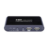 AIMOS HD Video Switch 2 puertos HDMI KVM Switch 4K Share Switcher Splitter Caja para compartir impresora Teclado ratón