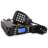 QYT KT-980 Plus VHF 136-174mhz UHF 400-470mhz 75W Dual Banda Base Car Mobile Radio Amatore