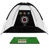 1* Golf Hitting Practice Cage 1* Floor Mat 1* Golf Club 10* Practice Balls 1* Practice Target Net