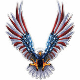 6x6.75 Inch Vinyl Car USA Eagle Bandiera degli Stati Uniti Flag Bumper Window Etichettas Decal