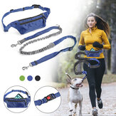 Multifunctionele hond Elastische Running Traction Rope Hondenriem Chain Harness Hand