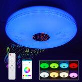 16 дюймов, 100 Вт, LED, музыкальный потолок с RGB-подсветкой, Лампа, Bluetooth, приложение + пульт дистанционного управления, для спальни, мастерская, 85