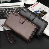 Baellerry Men Business Leather Long Wallet Clutch Purse Bag ID Credit SIM Card Holder For iPhone Samsung