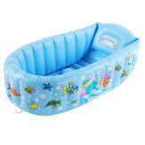 Baby Inflatable Bath Tub PVC Swimming Pool Shower Bath Folding Kids Portable Swimming Pool for 0-3 Years Old