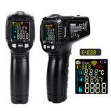 DANIU ET6531B / C Kontaktfri Infraröd Digital Termometer Luftfuktighetsmätare -50 ~ 600 ° C Med Colorful VA Skärm 12 Poäng Temperatur Testområde Ange Temperaturfuktighetsmätare Pyrometer