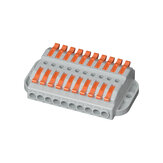600V 32A Wire Connector 10 In 10 Out Wire Splitter Terminal Block Compact Wiring Cable Connector Push-in Conductor
