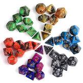 42 pezzi 6 set dadi poliedrici 6 colori D & D RPG con 6 sacchetti