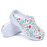 AtreGo Printing Scrub Clogs Antislip Chirurgische schoenen Chef Shoes Nursing Slippers voor dames