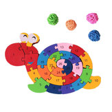 26pcs Multicolor Letter Children's Educational Building Blocks Snail Toy puzzel voor kinderen Gift