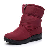 Stivali Zipper Snow Mid Calf impermeabili