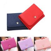 Kobiety Lady Crown Krótki portfel Mini Money Men Fold Bag Moneta Torebka Posiadacze kart Portfele