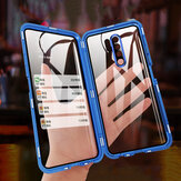 Bakeey for Xiaomi Redmi 9 Case 2 in 1 with Lens Protector Magnetic Flip Double-Side Tempered Glass Metal Full Cover Protective Case