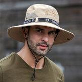 Hommes de pêche en plein air imperméable à l'eau à séchage rapide anti-UV visière chapeaux maille respirante seau chapeau