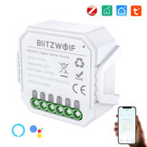 BlitzWolf® BW-SS7 ZigBee3.0 2300W Smart Light Switch Module 1 Gang / 2 Gang Wireless App Remote Control Voice Control Time Schedule Works with Amazon Alexa and Google Assistant