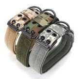 M taktisches militärisches verstellbares Hundehalsband Nylon Leine mit Metallschnalle