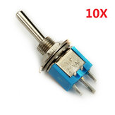 Wendao SMTS-102 ON / ON AC 125V 6A 2 Piny Mini Toggle Rocker Switch 10szt