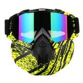 Visiera rimovibile Maschera Goggles Motorcycle Motocross Ski Riding Cycling Protector Outdoor